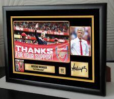 "Arsene Wenger Framed Canvas Print Signed Great Gift Ltd Edition ""Great Gift"""