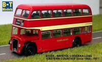 Model Bus. Bristol Lodekka LD5G - Eastern Counties - Circular 1/76 British Bus