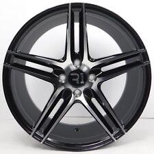 SET(4) 17x8.5 Honda Civic Del Sol CRX Accord Fit Prelude Black Wheels Rims 4x100