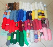 Lot #2 - 59 Skeins of Acrylic Yarn - 2/3 to Full - Variety of Colors and Brands
