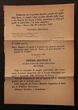 REGIO DECRETO - Istituita Scuola normale femminile e una maschile - 1872 - 97