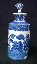 Blue Willow Perfume Bottle w/ Stopper Dabber Porcelain China New