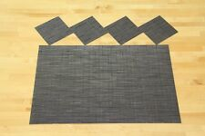 CHILEWICH BAMBOO CHOCOLATE (Non Skid, Spill Proof) Set of 4 matching