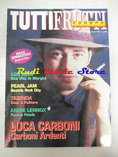 rivista TUTTIFRUTTI 115/1992 Luca Carboni Lou Reed Pearl jam Tanita Tikaram Nocd