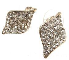 Diamante Earrings single leaf Stud Earrings Fashion Earrings