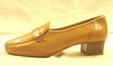 PUMPS ORIGINAL HUSH PUPPIES SLIPPER  HALBSCHUH TOFFEE ECHTLEDER GR.7 G