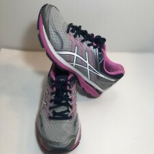 ASICS GT-2000 size 8.5 Casual Running Stability Shoes - Silver and pink Womens