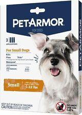 Pet Armor Flea Tick Prevention for Small Dogs (5-22 lbs), 3 Applicators