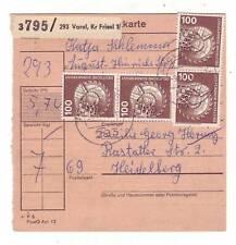 Paketkarte Stammteil Varel 1976