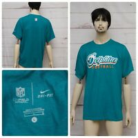 Nike Miami Dolphins Teal On Field Men's Size LARGE Dri-Fit T-Shirt Tee NFL