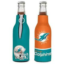 Miami Dolphins 12oz Two Sided Bottle Cooler [New] Nfl Can Holder Foam Koozie