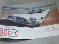 Vintage 1957 Magazine Ad Chrysler 300C Mt. Baldy Little Mountain Utah Ski Resort