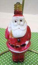 Vintage Christmas Light Bulb Figural Fun Fat Santa Pack on Shoulder Price Stamp