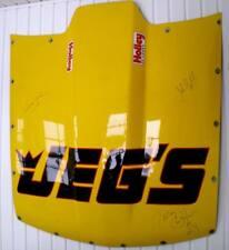 Nhra Troy Coughlin Jeg's Nitro Pro Mod Hood Stock Race Used Chevy Crew Signed