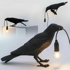 Seletti Bird Table Lamps Bedroom Resin Crow Desk Lamp Bedside Light Wall Sconce