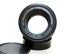 Minolta Rokkor-X PG 50mm f/1.4 manual focus lens