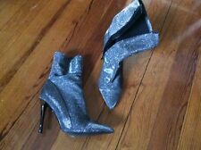 Women's Guess silver booties size 8