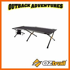 OZTRAIL ALUMINIUM JUMBO STRETCHER - OUTDOOR CAMPING CROSS LEG CAMP BED