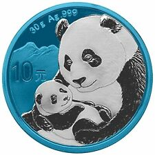 2019 Chinese Silver Panda 30g .999 Silver Coin 10 yuan - Space Blue Edition 080