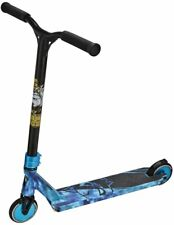 Team Dogz Pro X Ultimate Space / Galaxy Blue & Black Child's Stunt Push Scooter