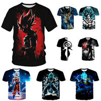 Dragon Ball Z Vegeta Goku Super Saiyan 3D Print T-Shirt Women Men Casual Tee Top