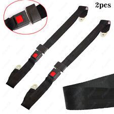 2X Black 2-Punkt Gürtel Auto PKW Bus Sicherheitsgurt Beckengurt mit Gurtschloß