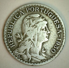 1930 Portugal 1 One Escudo Portuguese Coin YG