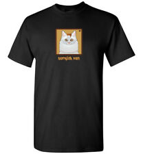 Turkish Van Cat Cartoon T-Shirt Tee - Men Women's Youth Tank Short Long Sleeve