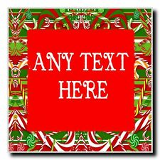 Candy Cane Christmas Personalised Drinks Mat Coaster