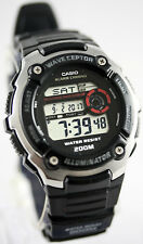 Casio WV-200A-1A Mens WAVECEPTOR Watch Digital Black Atomic Sports New