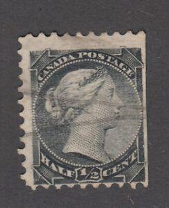 "Canada Scott #34  1/2 cent black  ""Small Queen"""