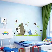 Cartoon Totoro Removable Wall Sticker Nursery Bedroom Kindergarten Art Decal