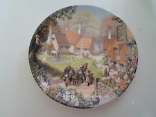 THE VILLAGE GREEN Plate  Robert Hersey Coalport China Tale of a Country Village