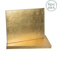 Gold Placemats Rectangular Dining Table Decor Pack of 6
