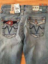 Vigoss Jeans Girls Juniors 14 Child's Large New Nwt Boot Cut Flowers Bling W27