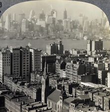 Keystone Stereoview overlooking Manhattan & Brooklyn, NY From RARE 1200 Card Set