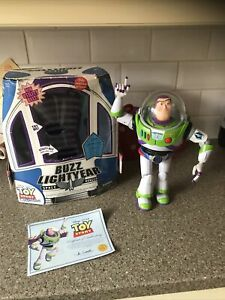 """Toy Story Buzz Lightyear Chrome Utility Belt 12"""" Action Figure NOT WORKING"""
