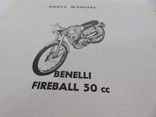 Original OEM Benelli Fireball 50cc Parts Manual
