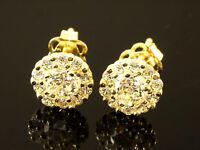 333 Gold Ohrstecker 1 Paar rund mit  gefaßten Zirkonia Steinen
