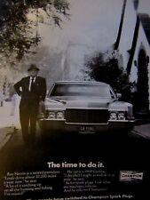 "1972 Champion Ray Herrin 1969 Cadillac Original Print Ad 8.5 x 10.5"""