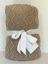 Pottery Barn Porter Throw Blanket Taupe New With Tags Sold Out At Pottery Barn