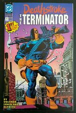 DEATHSTROKE THE TERMINATOR #1 (1991 D.C.) *SIGNED BY MIKE ZECK* NM-/NM