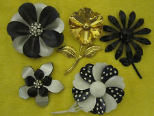 5 Collectable Flower Pin Brooches