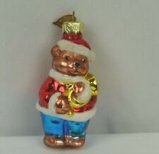 Thomas Pacconi Glass Ornament Bear with Musical Instrument 2002 Christmas Tree