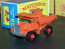 Matchbox Lesney Mack Dump Truck 28 d1 red wheels BPT SC2 VNM crafted box