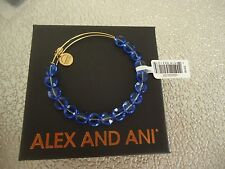 Alex and Ani SAPPHIRE LUXE Yellow Gold Finish  Bangle New W/ Tag Card & Box