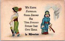 Milverton Ontario Canada Humor Funny Postcard Police Lady Good Shows St Comic