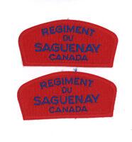 Canadian military Regiment du Saguenay 2 badges