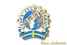 """METALLO-PLACCA """"VESPA CLUB Sverige"""" - Svezia Sweden emblema v50 PK PX GL BADGE"""