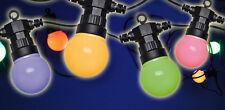 30415 Partylichterkette LED bunt 20 Lampen Lichterkette Innen & Außen